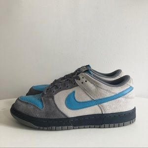 Nike Dunk Low CL aqua blue grey suede sneakers